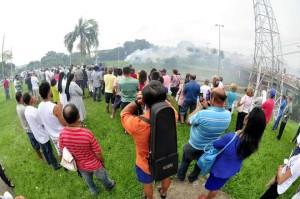 Última queima de fogos na procissão de Aparecidinha (Foto: Pedro Negrão)